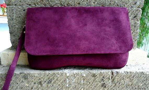 Покраска замшевых сумок
